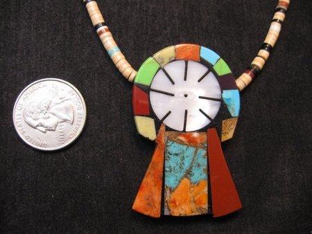 Image 2 of Colorful Mary Tafoya Kewa Santo Domingo Multi-Stone Inlay Necklace