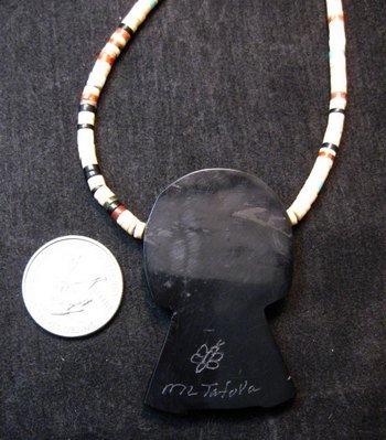 Image 3 of Colorful Mary Tafoya Kewa Santo Domingo Multi-Stone Inlay Necklace
