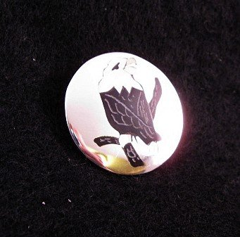 Image 1 of Sanford Edaakie Zuni American Bald Eagle Silver Pin / Pendant