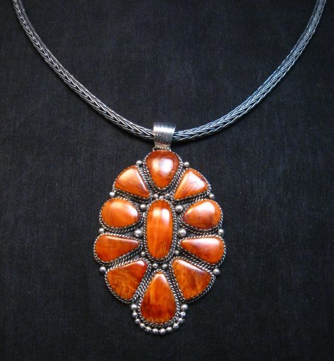 Image 4 of Heavy Navajo Oxidized Woven Silver Rope Necklace 18'', Travis Teller
