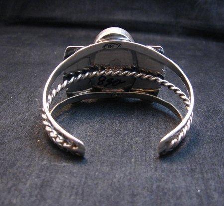 Image 5 of Navajo Everett & Mary Teller Orange Jasper with Spiny Oyster Silver Bracelet