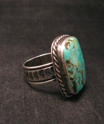 Image 1 of Big Navajo Native American Turquoise Mens Ring, Travis Teller, sz14-1/2