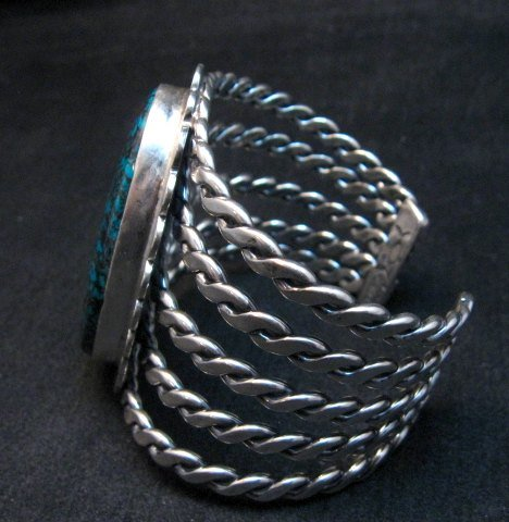Image 4 of One of a Kind Navajo Shadowkite Silver Bracelet, Everett & Mary Teller