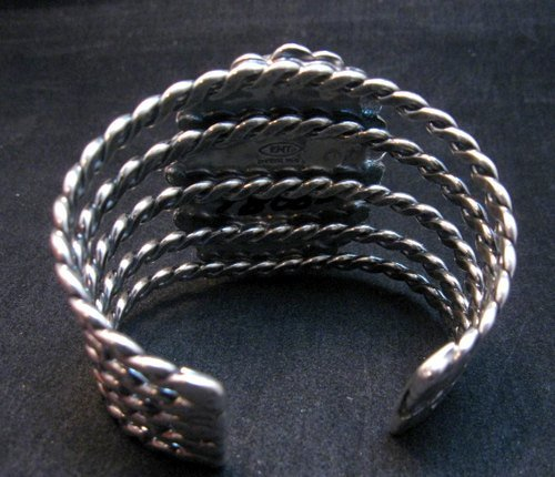 Image 5 of One of a Kind Navajo Shadowkite Silver Bracelet, Everett & Mary Teller