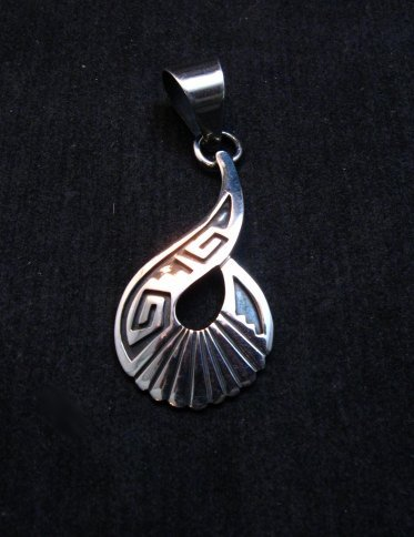 Image 0 of Everett & Mary Teller Navajo Sterling Silver Swirl Pendant