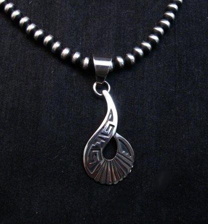 Image 1 of Everett & Mary Teller Navajo Sterling Silver Swirl Pendant