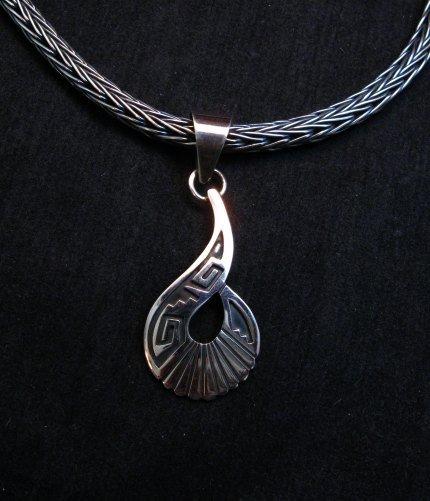 Image 2 of Everett & Mary Teller Navajo Sterling Silver Swirl Pendant