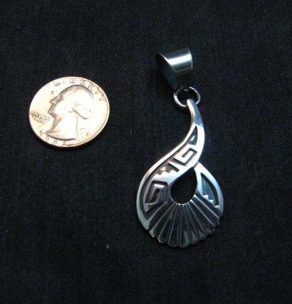 Image 4 of Everett & Mary Teller Navajo Sterling Silver Swirl Pendant