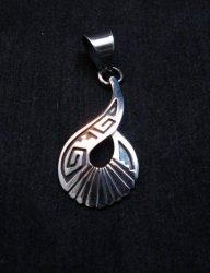 Everett & Mary Teller Navajo Sterling Silver Swirl Pendant