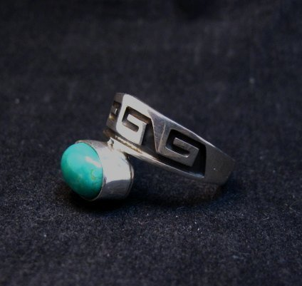 Image 1 of Navajo Sterling Silver Overlay Turquoise Ring, Everett & Mary Teller, sz10