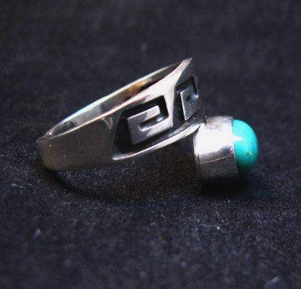 Image 3 of Navajo Sterling Silver Overlay Turquoise Ring, Everett & Mary Teller, sz10