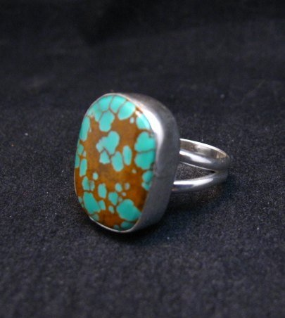 Image 1 of Navajo Royston Turquoise Silver Ring sz5-3/4, Everett Mary Teller