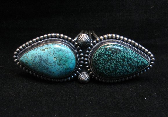 Image 6 of Amazing Gem Quality Turquoise Ring Navajo Freddie Maloney sz 8-1/4