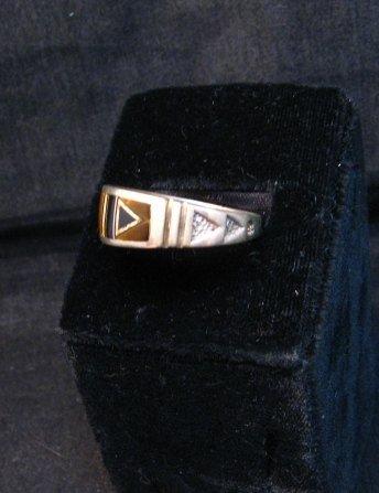 Image 2 of Native American Navajo Multigem Inlay Band Ring Sz12-1/4, Rick Tolino