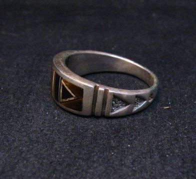 Image 3 of Native American Navajo Multigem Inlay Band Ring Sz12-1/4, Rick Tolino