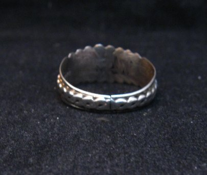 Image 3 of Native American Navajo Sterling Silver Band Ring sz11, Florence Tahe