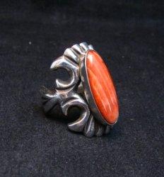 Navajo Sandcast Silver Spiny Oyster Ring sz7-1/2 Carol & Wilson Begay