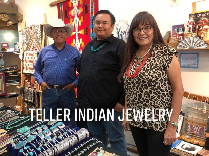 Image 7 of Navajo ~ Everett & Mary Teller ~  Kingman Turquoise Bolo Fancy Silver Tips