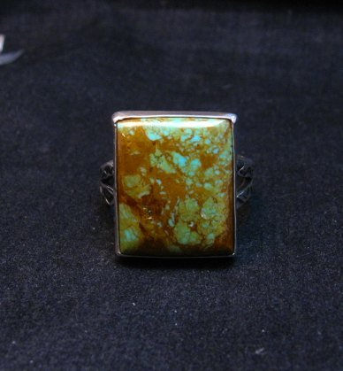 Image 4 of Big Navajo Royston Turquoise Sterling Silver Ring Everett Mary Teller sz12