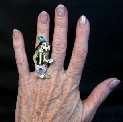 Image 1 of Native American Zuni Goofy Ring, Andrea Lonjose Shirley, sz6