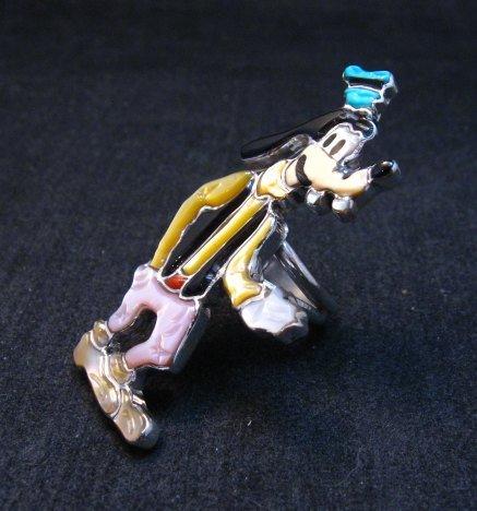 Image 2 of Native American Zuni Goofy Ring, Andrea Lonjose Shirley, sz6