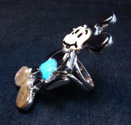 Image 2 of Zuni Mickey Mouse Ring, Andrea Lonjose Shirley, sz8