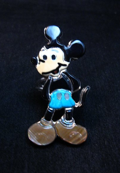Image 3 of Zuni Mickey Mouse Ring, Andrea Lonjose Shirley, sz8