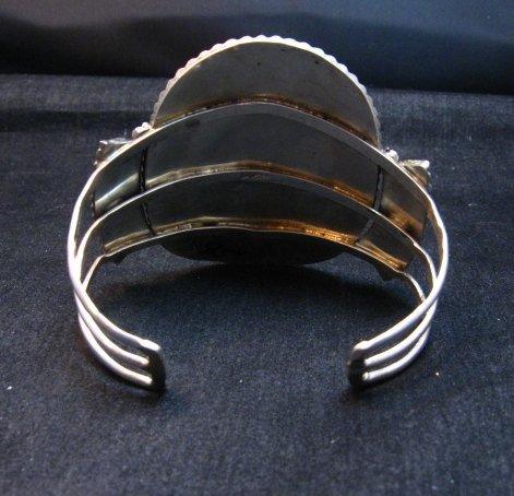 Image 6 of Vintage Pawn Zuni Sleeping Beauty Turquoise Needlepoint Cluster Bracelet