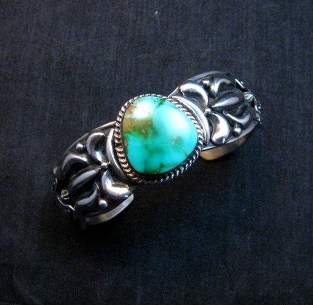 Image 0 of Darryl Becenti Navajo Royston Turquoise Silver Bracelet