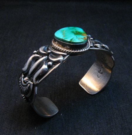 Image 2 of Darryl Becenti Navajo Royston Turquoise Silver Bracelet