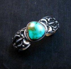 Darryl Becenti Navajo Royston Turquoise Silver Bracelet