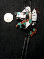 Vintage WM Zunie  Inlay Eagle Dancer Bolo Tie
