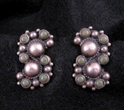 Vintage Mexican 900 Silver Earrings Screw-back