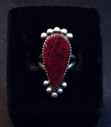 Image 0 of Navajo Purple Spiny Oyster Silver Ring by Selena Warner sz6-1/4
