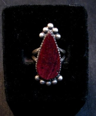 Image 1 of Navajo Purple Spiny Oyster Silver Ring by Selena Warner sz6-1/4