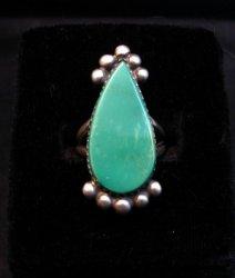 Navajo ~ Selena Warner ~ Turquoise Silver Ring, sz6-1/2