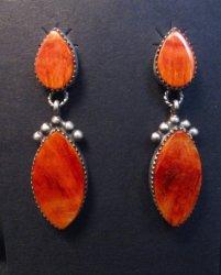 Navajo 2-pc Spiny Oyster Silver Earrings, Selena Warner
