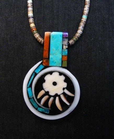 Image 0 of Mary Tafoya Santo Domingo Multi-Stone Inlay Necklace Native American