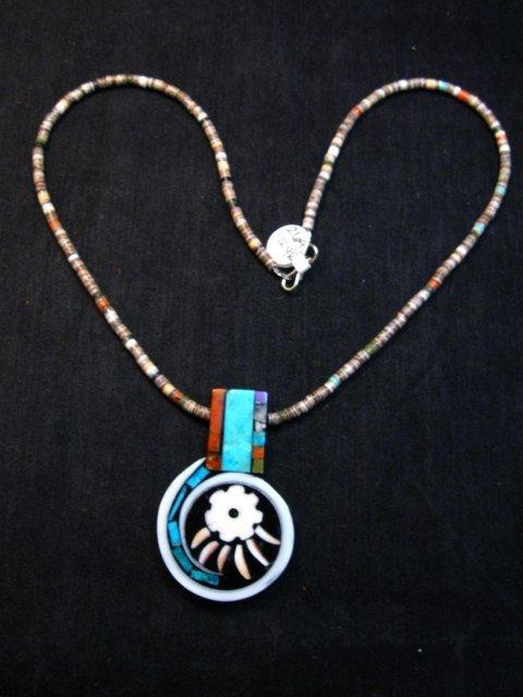 Image 1 of Mary Tafoya Santo Domingo Multi-Stone Inlay Necklace Native American