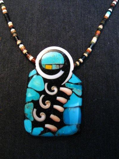 Image 0 of Amazing Mary Tafoya Santo Domingo Multi-Stone Inlay Necklace