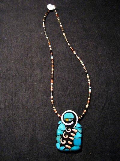 Image 1 of Amazing Mary Tafoya Santo Domingo Multi-Stone Inlay Necklace