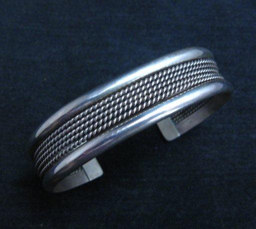 Image 0 of Vintage Native American Navajo Sterling Silver Cuff Bracelet
