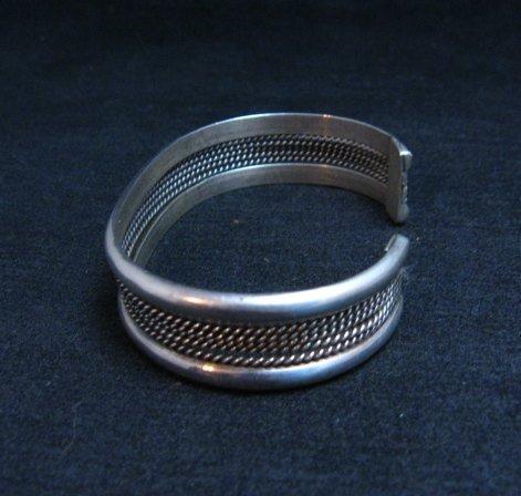 Image 1 of Vintage Native American Navajo Sterling Silver Cuff Bracelet