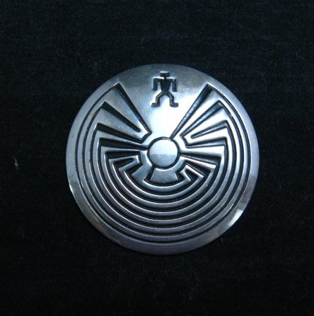 Image 0 of Navajo Native American Man in the Maze Pin