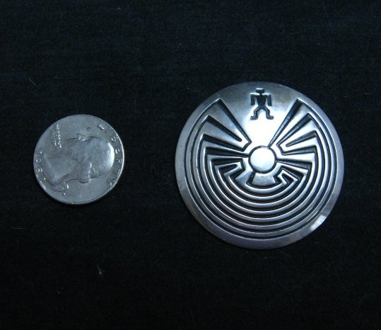 Image 1 of Navajo Native American Man in the Maze Pin