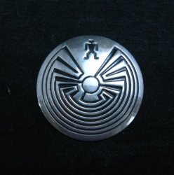 Navajo Native American Man in the Maze Pin
