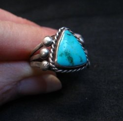 Vintage Native American Navajo Turquoise Ring sz6-3/4