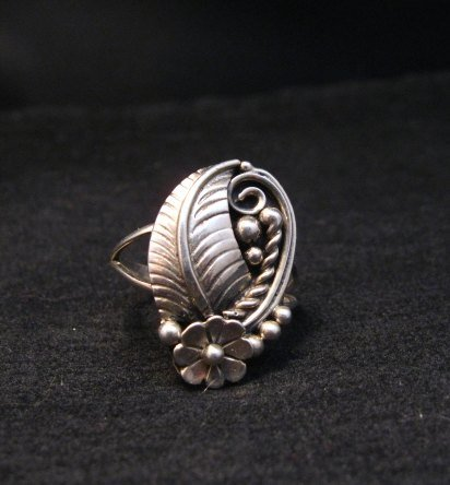 Image 0 of Vintage Native American Navajo Sterling Silver Ring Hallmarked sz6-1/4