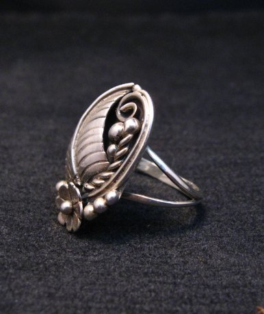 Image 1 of Vintage Native American Navajo Sterling Silver Ring Hallmarked sz6-1/4