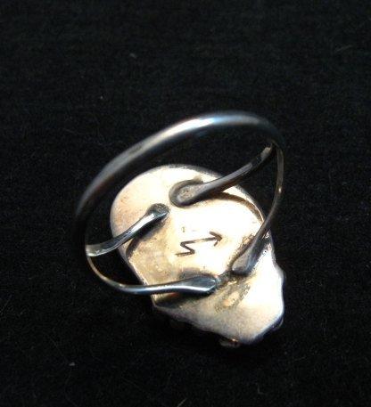 Image 2 of Vintage Native American Navajo Sterling Silver Ring Hallmarked sz6-1/4
